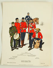 Canadian Militia #366 Vintage Historical Military Uniforms in  America Print