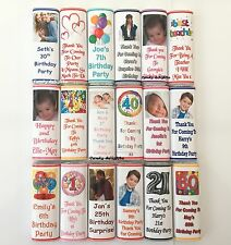 20 Personalised Birthday Chocolate Bar Wrappers  Favours, Gifts Posted 1st Class