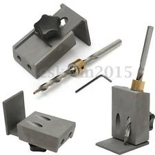 Set of Pocket Hole Jig Drilling Position System &Step Drill Bit Woodworking Tool