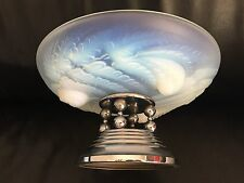 Etling France, rare coupe verre opalescent Art Déco glass french dlg Sabino