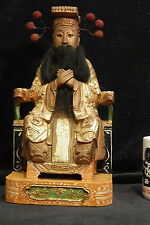 Large Rare Important Temple Jade Emperor Yu Huang Dadi 玉皇 Taoist Handcarved gilt