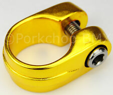 """Old school Suntour style BMX bicycle seat clamp 28.6mm (1 1/8"""") - GOLD ANODIZED"""