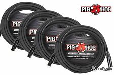 4 PACK Pig Hog 8mm Mic Cable, 25' foot XLR to XLR w/ LIFETIME Warranty. PHM25