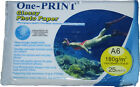 50 sheets ONE PRINT 6 x 4 180 GSM A6 GLOSS PAPER 2 x 25 pack