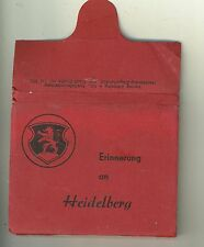 Pre WWII View Book of Heidelberg Gremany Erinnerung an Heidleberg