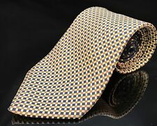 Tommy Hilfiger Blue Yellow Squares Green Italian Silk Necktie TIE Classic