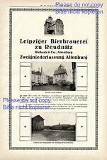 Cervecería a reudnitz XXL publicitarias 1925 riebeck Altenburg Leipziger bierbrauerei +