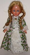 "Vintage 1950/1960's Victorian/Edwardian Standing Dressed 7 "" Doll"