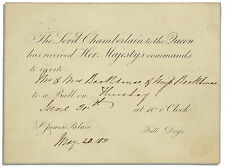 King William IV & Adelaide's St. James's Palace Invite