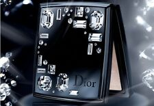 RARE DIOR 002 NIGHT DIAMOND POWDER BLACK ENAMEL SWAROVZKI COMPACT NEW ! NO BOX