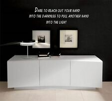 Dare to reach out vinyl wall decal
