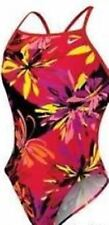 Nike One Piece  Swimsuit Size 38 / WOMENS 12 Athletic Coral Pink Red  Black $78