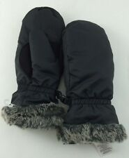 Eddie Bauer Down Essential Womens Mittens GLOVES Black L LARGE