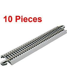 "Bachmann 44581 9"" Staight Nickel Silver E-Z HO Train Track (10 Pieces)"
