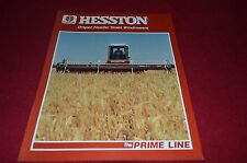 Hesston Draper Header Grain Windrowers Dealer's Brochure YABE