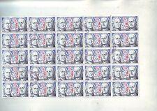 planche 20 timbres obliterés - independance des etats unis -
