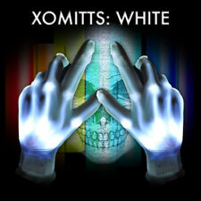 HALLOWEEN XO Magic Mitts White LEDs Flashing LED Gloves LightUp Rave Party Dance