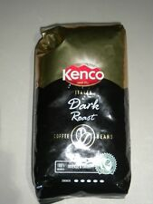 KENCO ITALIA DARK ROAST COFFEE BEANS STRENGTH 5/5 100% ARABICA 1 Kg BAG FREE P&P