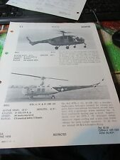 Militaria - 1950 War Plane/Jet Officil ID Sheet OPNAV 32P-1200 - US Helicopters