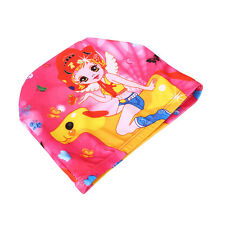 Flexible Colorful Printed Swimming Cap Waterproof Bathing Children Stretch