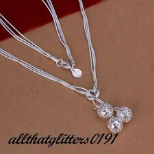 Stunning Silver Plated Hollow Beaded Necklace On Multi Strands,