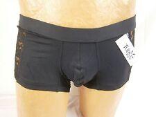 Tulio White Lace Panel Trunk Small Black NWT #2433IM AL468