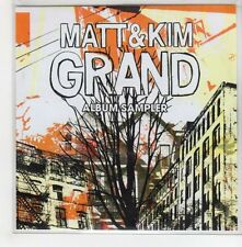 (GH952) Matt & Kim, Grand Album Sampler - 2009 DJ CD