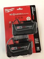 Milwaukee M18 18-Volt Li-Ion XC High Capacity Battery 2-Pack 48-11-1822 NEW
