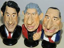 LOT 3 anciennes figurine LES GUIGNOLS de L'INFO chirac CANAL+ marionnette