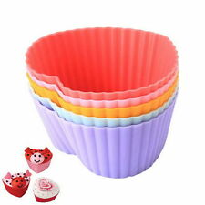 12 PCS Soft Silicone Chic Cake Muffin Chocolate Cupcake Bakeware Baking Cup Mold