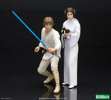 Star Wars LUKE SKYWALKER & PRINCESS LEIA - ARTFX+ Statue Figures 1/10 Kotobukiya
