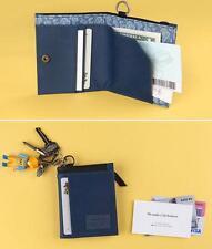 KOREA Cotton BLUE Sporty Rider Travel Camping Hiking Hip ZIP Wallet w/ Key Ring