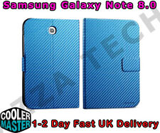Cooler Master Samsung Galaxy Note 8.0 Folio Case Cover BLUE Carbon Texture