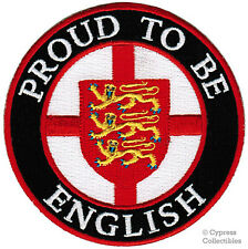 PROUD TO BE ENGLISH embroidered iron-on PATCH UK ENGLAND FLAG GREAT BRITAIN