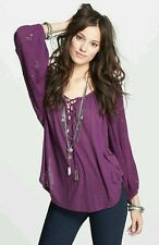 NEW Free People Aubergine Golden Nugget Top Size XS