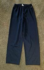 NIKE DRI-FIT women's small loose fit Yoga lounge pants fitness wide leg EUC blk.