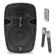 New PPHP159WMU 1600W Bluetooth PA speaker System & 2 Wireless Microphones/Remote