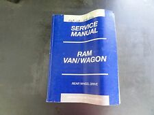 DaimlerChrysler Corporation Dodge 2002 RAM VAN/Wagon Service Manual