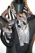 "VERSACE AUTHENTIC 100% SILK TWILL SCARF FOULAND 35""x 34""  Made in ITALY $320 NEW"