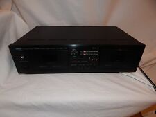 Yamaha KX-W262 Natural Sound Stereo Dual Cassette Player Recorder Deck