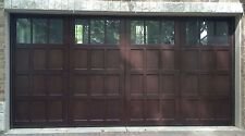 16x8 Wood Overhead Carriage House Garage Door AmanaDoors Model 104W6