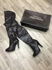 Ladies Stunning Thigh High Designer Boots FRANCESCA MILANO Black Leather Uk5 New