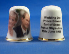 FINE PORCELAIN CHINA THIMBLE  PRINCE EDWARD AND SOPHIE RHYS-JONES