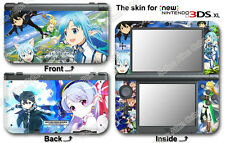 Sword Art Online Lost Song Skin Sticker Cover Decal #1#0 for NEW Nintendo 3DS XL