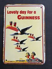 Guinness Flying Toucans METAL SIGN vtg Retro Garage Wall Pub Decor 20x30 Cm