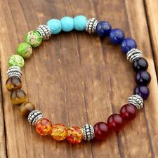 Wholesale 8mm Women Natural Stone Jade Round Beads Stretch Bracelet US