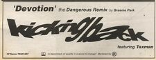 24/3/90Pgn09 Advert: Kicking Back devotion The Dangerous Remix Out Now 4x11