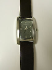 Kenneth Cole Women's KC2135 Stainless Steel Brown Leather Watch - Preowned