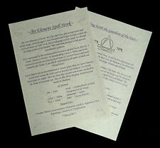 Witches  AIR Elemental Information Posters Wicca Pagan Ritual Spells Altar