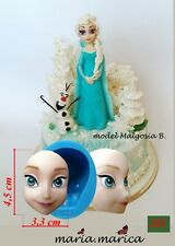 silicone mold (211) doll head Elsa mould cake fondant sugarcraft resin soap